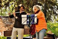 Paul Kristof à la flûte