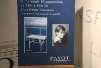 Vernissage Un boudoir sur l'Atlantique Payot Cornavin